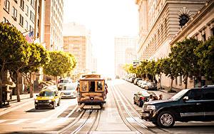 Fotos USA San Francisco Straße Straßenbahn Städte