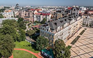 Bilder Ukraine Kiew Haus Von oben Städte