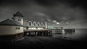 Fotos Vereinigtes Königreich Küste Seebrücke Wales Penarth Natur