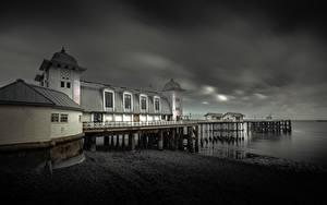 Fotos Vereinigtes Königreich Küste Seebrücke Wales Penarth