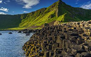 Fotos Vereinigtes Königreich Küste Gebirge Steine Felsen Northern Ireland, County Antrim, Giant's Causeway
