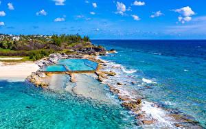 Bilder Vereinigtes Königreich Küste Meer Tropen Schwimmbecken Bermuda Natur