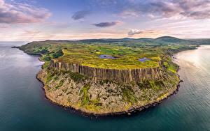 Hintergrundbilder Vereinigtes Königreich Küste Himmel Felsen Hügel Wolke Northern Ireland, Antrim Natur