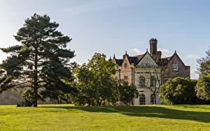 Bilder Vereinigtes Königreich Haus Rasen Bäume Greys Court Städte