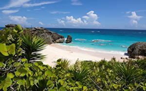 Hintergrundbilder Vereinigtes Königreich Ozean Insel Küste Strände South Shore Park, Bermuda