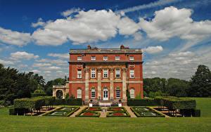 Fotos Vereinigtes Königreich Parks Eigenheim Design Rasen Clandon Park House Surrey Städte