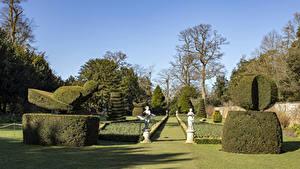 Fotos Vereinigtes Königreich Park Skulpturen Design Strauch Rasen Cliveden National Trust