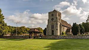 Hintergrundbilder Vereinigtes Königreich Tempel Kirche Rasen Bradenham St Botolph Church Städte