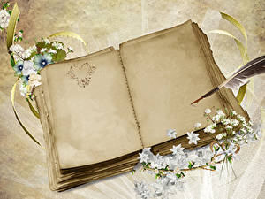 Papéis de parede Dia dos Namorados Coração Caderno Cartão do molde