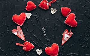 Fotos Valentinstag Herz Rot Schlüssel