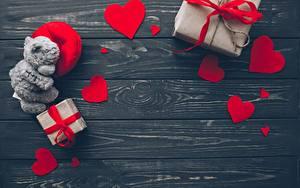 Bilder Valentinstag Herz Bretter Vorlage Grußkarte Geschenke