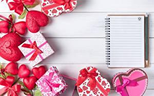 Bilder Valentinstag Notizblock Geschenke Herz Schleife Vorlage Grußkarte