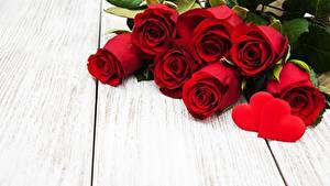 Hintergrundbilder Valentinstag Rot Bretter Vorlage Grußkarte Herz Blüte