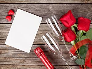 Hintergrundbilder Valentinstag Rose Rot Vorlage Grußkarte Weinglas Blüte