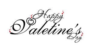 Bilder Valentinstag Wort Englischer Herz Weißer hintergrund