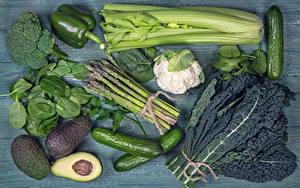 Bilder Gemüse Gurke Peperone Avocado
