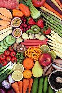 Hintergrundbilder Gemüse Obst Äpfel Tomate Birnen Zitrusfrüchte Erdbeeren