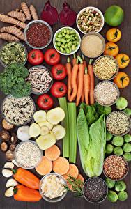 Hintergrundbilder Gemüse Gewürze Tomate Peperone Mohrrübe das Essen