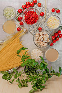 Wallpapers Vegetables Tomatoes Cheese Chicken as food Pasta Food