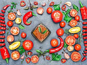 Hintergrundbilder Gemüse Tomate Peperone Chili Pfeffer Design Ketchup das Essen
