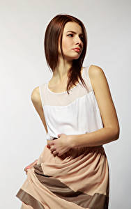 Fotos Viacheslav Krivonos Model Braune Haare Alona junge Frauen