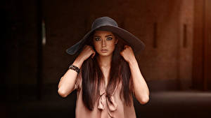Hintergrundbilder Viacheslav Krivonos Model Der Hut Hand Blick Mädchens
