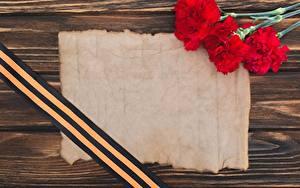 Papéis de parede Dia da Vitória 9 de maio Dianthus Cartão do molde Fita Flores