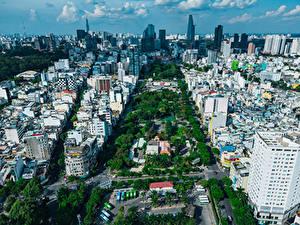 Fotos Vietnam Haus Von oben Ho Chi Minh City Städte