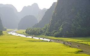 Bilder Vietnam Gebirge Flusse Boot Tam Kok National Park, Ninh Binh