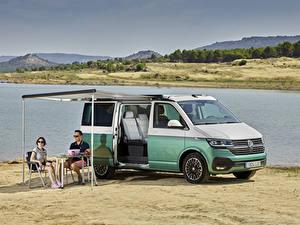 Papel de Parede Desktop Volkswagen Minivan 2019-20 California Beach Worldwide Carros