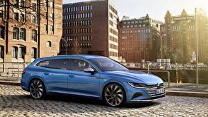 Bilder Volkswagen Hellblau Metallisch Kombi 2020 Arteon Shooting Brake Elegance Worldwide auto