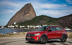 Hintergrundbilder Volkswagen Rot Metallisch 2020 Nivus Highline 200 TSI Launching Edition Latam automobil