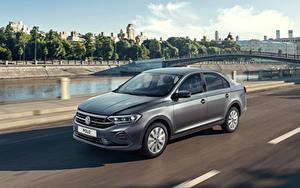 Bakgrundsbilder på skrivbordet Volkswagen Grå Går 2020 Polo bil