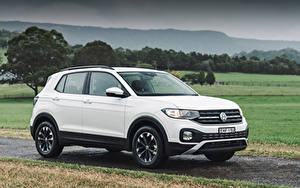 Hintergrundbilder Volkswagen Weiß Crossover 2020 T-Cross Life