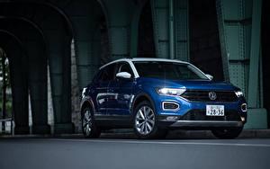 Fotos Volkswagen Blau Metallisch 2020 T-Roc auto