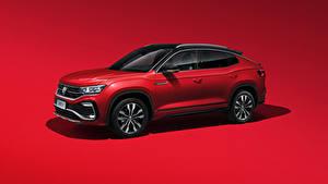 Hintergrundbilder Volkswagen Roter Hintergrund Rot 2020 Tayron X R-Line
