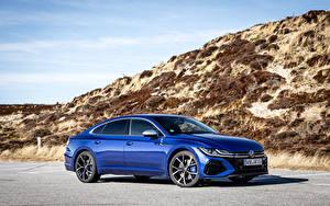 Bilder Volkswagen Blau Metallisch Arteon R, Worldwide, 2020 -- automobil
