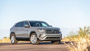 Fondos de escritorio Volkswagen Crossover Gris Metálico Atlas Cross Sport SE, 2020 automóvil