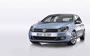 Bakgrundsbilder på skrivbordet Volkswagen Metallisk Framifrån  bil