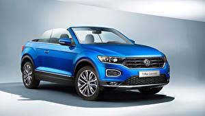 Bilder Volkswagen Cabriolet Blau T-Roc, Cabriolet, 2020 Autos