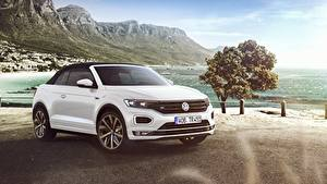 Bilder Volkswagen Cabrio Weiß T-Roc, Cabriolet, R-Line, 2020 auto