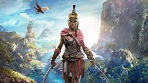 Fotos Krieger Assassin's Creed Odyssey Helm Spiele Mädchens