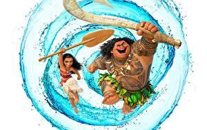 Fonds d'écran Eau Vaiana : La Légende du bout du mond Maui Filles