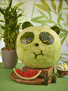 Image Watermelons Giant panda Design Food