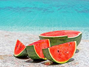 Fotos Wassermelonen Stück das Essen
