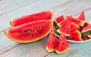 Hintergrundbilder Wassermelonen Stück das Essen
