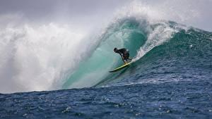 Photo Waves Men Surfing Water splash athletic