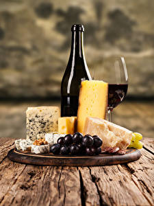Image Wine Cheese Grapes Bottle Stemware Cutting board
