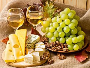 Bilder Wein Weintraube Käse Schalenobst Weinglas