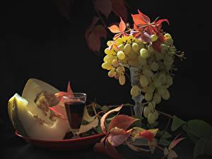 Hintergrundbilder Wein Weintraube Melone Dubbeglas Blatt